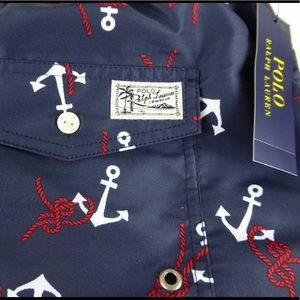 Polo Ralph Lauren Traveler Anchor Knot Swim Trunks